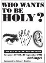 0012_Who_Wants_To_Be_Holy_deSingel_poster